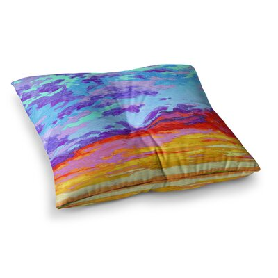 Dancing Clouds Sunset by Jeff Ferst Floor Pillow Size: 26 x 26