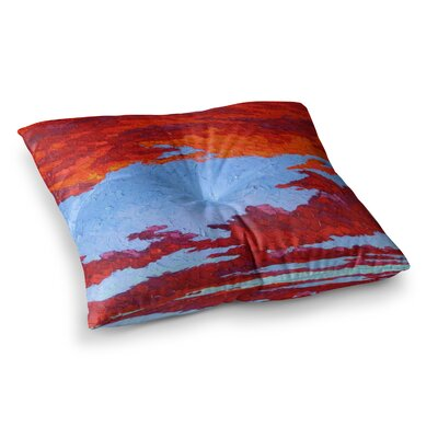Spring Sunset Over Wildflowers by Jeff Ferst Floor Pillow Size: 23 x 23
