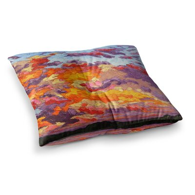 Evening Sky by Jeff Ferst Floor Pillow Size: 23 x 23