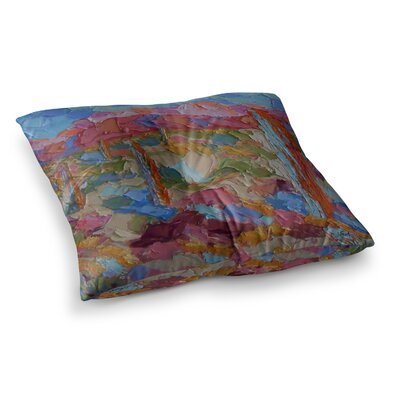Saguaros in Spring by Jeff Ferst Floor Pillow Size: 26 x 26