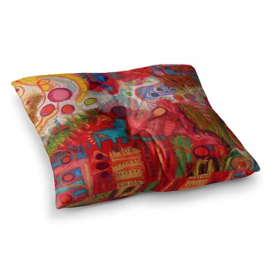 Desert Under a Full Moon by Jeff Ferst Floor Pillow Size: 23 x 23