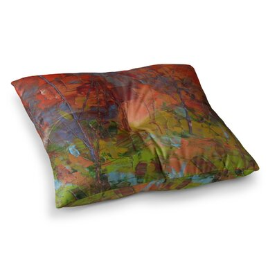 Fall Colours Painting by Jeff Ferst Floor Pillow Size: 26 x 26
