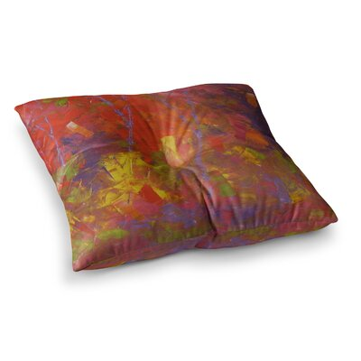 Forest Kaleidescope by Jeff Ferst Floor Pillow Size: 26 x 26