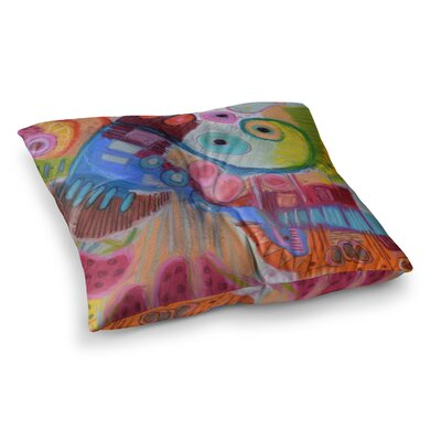 Papaya Dream by Jeff Ferst Floor Pillow Size: 23 x 23