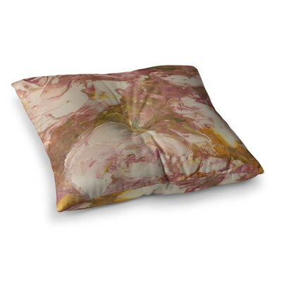 Roses Painting by Jeff Ferst Floor Pillow Size: 23 x 23