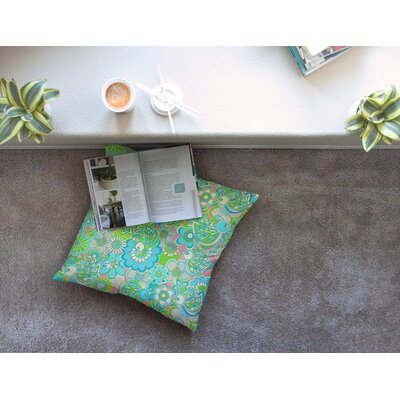 Welcome Birds to My Garden by Julia Grifol Floor Pillow Size: 26 x 26