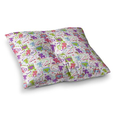 My Loving Dogs by Julia Grifol Floor Pillow Size: 26 x 26