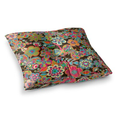 My Butterflies and Flowers by Julia Grifol Floor Pillow Size: 23 x 23