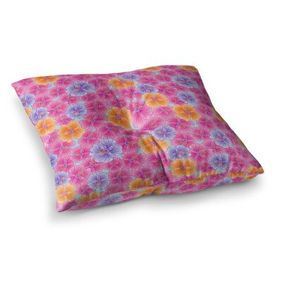 My Garden by Julia Grifol Floor Pillow Size: 26 x 26