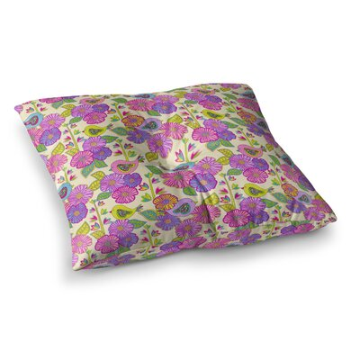 My Birds and My Flowers by Julia Grifol Floor Pillow Size: 26 x 26