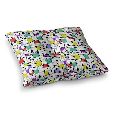 My Happy Squares by Julia Grifol Floor Pillow Size: 23 x 23