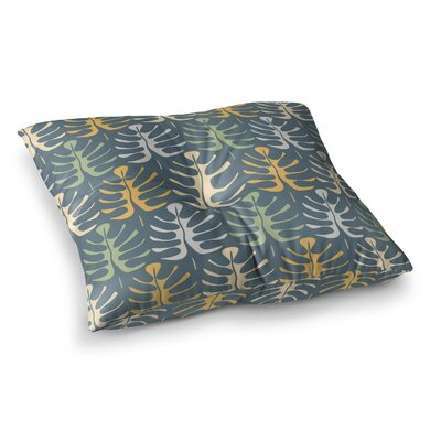 My Leaves by Julia Grifol Floor Pillow Size: 26 x 26, Color: Blue
