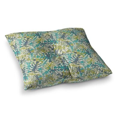 Tropical Leaves by Julia Grifol Floor Pillow Size: 23 x 23
