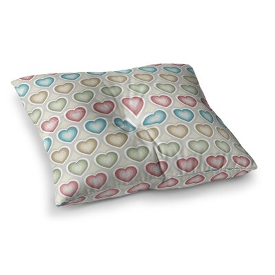 My Hearts by Julia Grifol Floor Pillow Size: 26 x 26