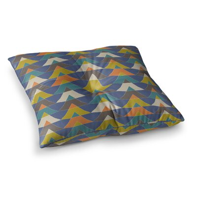Colorful Triangles by Julia Grifol Floor Pillow Size: 23 x 23