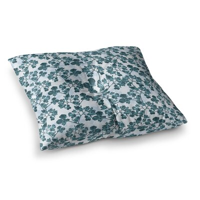 Flowers by Julia Grifol Floor Pillow Size: 23 x 23