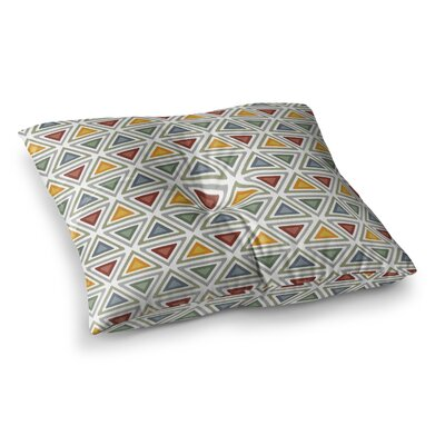 Ikat Triangles by Julia Grifol Floor Pillow Size: 26 x 26
