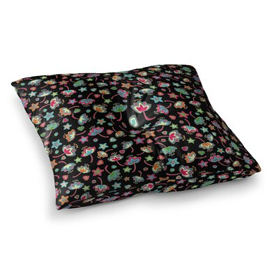 Sweet Flowers by Julia Grifol Floor Pillow Size: 26 x 26