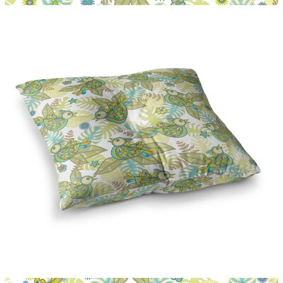 Summer Birds by Julia Grifol Floor Pillow Size: 26 x 26