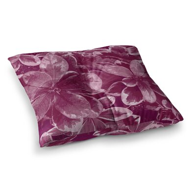 Warm Leaves Digital by Julia Grifol Floor Pillow Size: 23 x 23