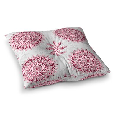 Geometric Mandalas by Julia Grifol Floor Pillow Size: 26 x 26