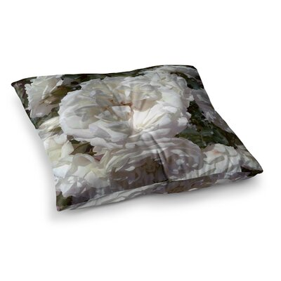 Flores Blancas Nature by Julia Grifol Floor Pillow Size: 26 x 26