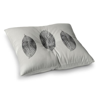 Three Leaves Nature by Julia Grifol Floor Pillow Size: 23 x 23