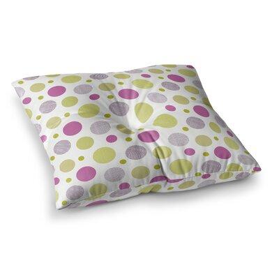 Rhapsody Dot by Julie Hamilton Floor Pillow Size: 23 x 23