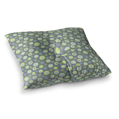 Snowflake by Julie Hamilton Floor Pillow Size: 23 x 23, Color: Slate