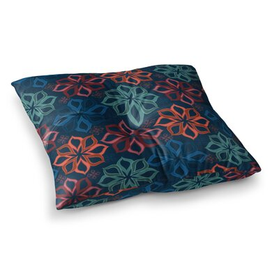Floral Charm Flowers by Jolene Heckman Floor Pillow Size: 23 x 23