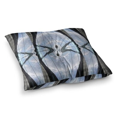 Butterfly Glass Photography by Tiny September Floor Pillow Size: 23 x 23