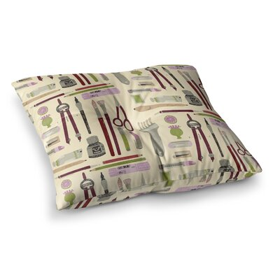 Art Supplies by Judith Loske Floor Pillow Size: 23 x 23
