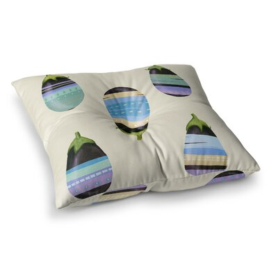 Happy Aubergines by Judith Loske Floor Pillow Size: 26 x 26