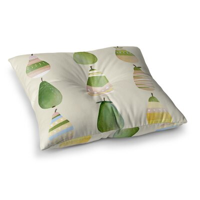 Happy Pears by Judith Loske Floor Pillow Size: 23 x 23