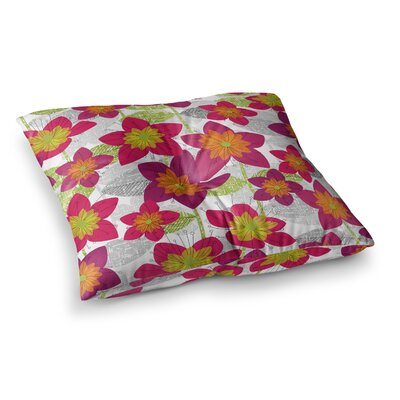 Star Flower Floral by Jacqueline Milton Floor Pillow Size: 23 x 23