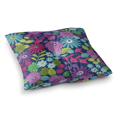Lula by Jacqueline Milton Floor Pillow Size: 26 x 26, Color: Blue/Purple