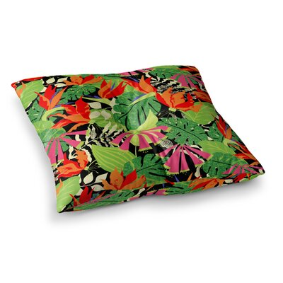 Tropicana - Hot by Jacqueline Milton Floor Pillow Size: 26 x 26