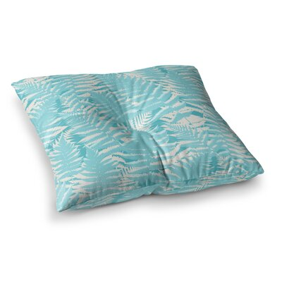 Fun Fern by Jacqueline Milton Floor Pillow Size: 26 x 26, Color: Blue