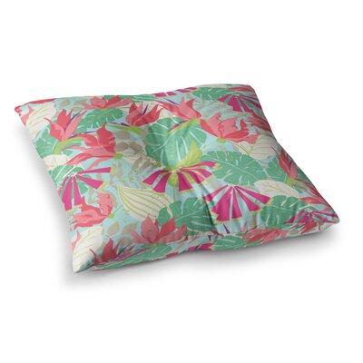 Tropicana - Sky by Jacqueline Milton Floor Pillow Size: 23 x 23