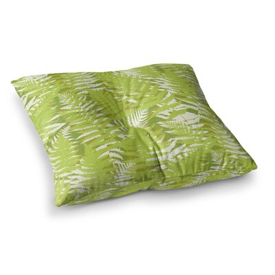 Fun Fern by Jacqueline Milton Floor Pillow Size: 23 x 23, Color: Green