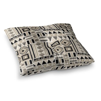 Heatwave Illustration by Jacqueline Milton Floor Pillow Size: 23 x 23, Color: Beige/Brown