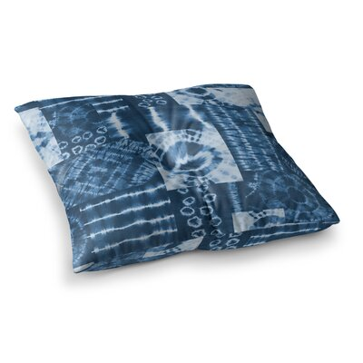 Shibori Patchwork Abstract Mixed Media by Jacqueline Milton Floor Pillow Size: 23 x 23