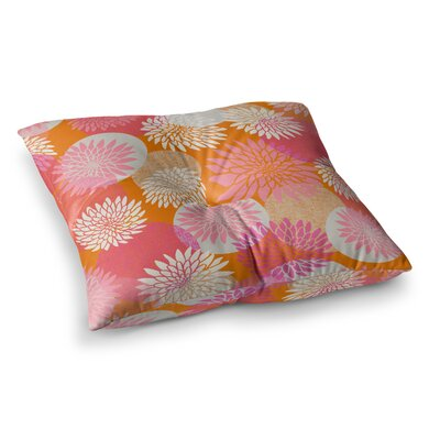 Flower Power Illustration by Jacqueline Milton Floor Pillow Size: 23 x 23