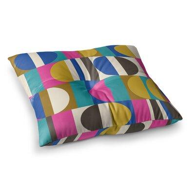 Geotech Digital by Jacqueline Milton Floor Pillow Size: 26 x 26