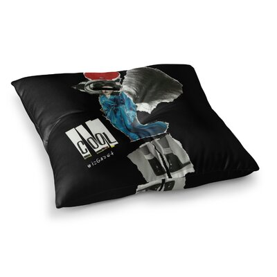 Cool by Jina Ninjjaga Floor Pillow Size: 23 x 23