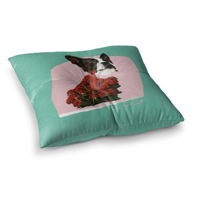 Bully Photography by Jina Ninjjaga Floor Pillow Size: 23 x 23