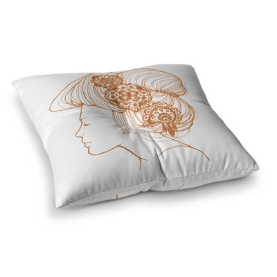 Organic by Jennie Penny Floor Pillow Size: 23 x 23, Color: White