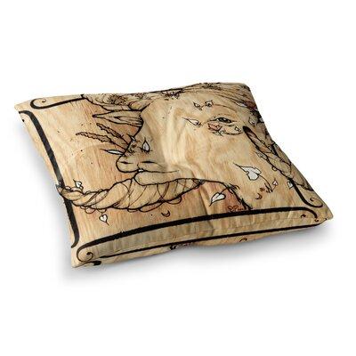 Ram by Jennie Penny Floor Pillow Size: 26 x 26