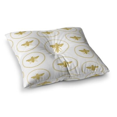 Busy as a Bee and Maize by Jennifer Rizzo Floor Pillow Size: 26 x 26