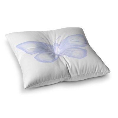 Lavender Butterfly by Jennifer Rizzo Floor Pillow Size: 26 x 26